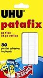 UHU Pastilles adhésives Patafix Blanc repositionnable décollable Lot de 80