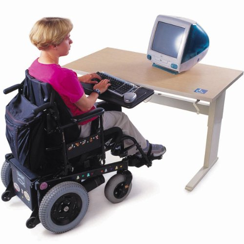 Buy Low Price Comfortable ACCESSIBLE ACTIVITY COMPUTER TABLE WITH HAND CRANK ADJUSTMENT DS (B000YL627A)