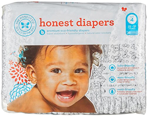 The Honest Company Diapers Size 4 - Skulls