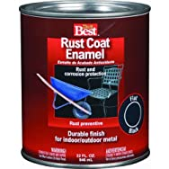 Rust Oleum1202Do it Best Rust Control Enamel-FLAT BLACK RUST ENAMEL