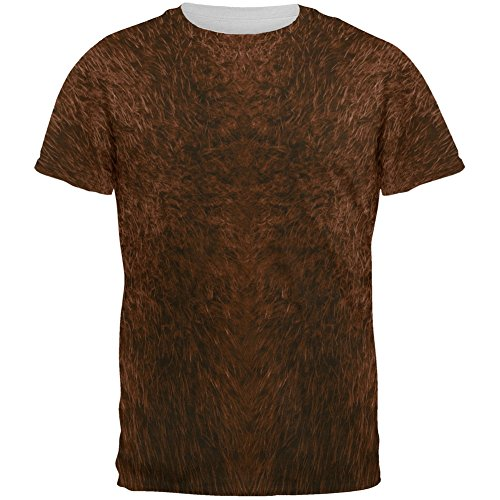 Halloween Beaver Costume All Over Adult T-Shirt