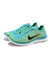 best website f413b 81ebc Nike Mens Free 4.0 Flyknit Running Shoes, Moonlight Green