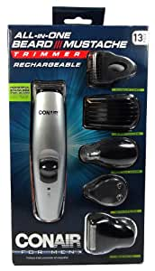 conair 13 piece rechargeable all in one beard mustache trimmer grooming system. Black Bedroom Furniture Sets. Home Design Ideas