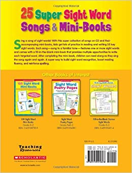 25 super sight word songs & mini books