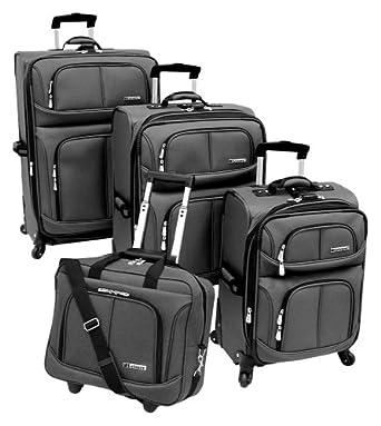 Leisure Luggage Lightweight 360 4 Piece Luggage Set, Steel, One Size