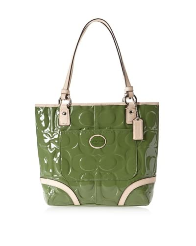 Coach Women's Shoulder Bag, Green/Tan