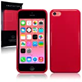 New Apple iPhone 5C 8gb (2014) TPU Gel Skin Case / Cover - Solid Red