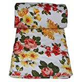 Frabjous Floral Polycotton Single Size Dohar (Multi)