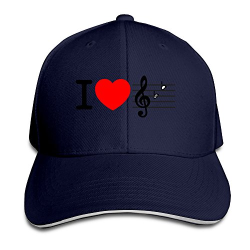 i-love-music-unisex-100-cotton-adjustable-trucker-hat-navy-one-size