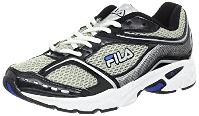 Fila Men's Simulite Running Shoe,Metallic Silver/Black/Turkish Sea,10.5 M US