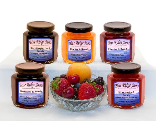 Blue Ridge Jams: Brandy Preserves Variety Pack,