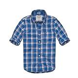 Abercrombie & Fitch / アバクロ / メンズ / 長袖 / ボタンダウンシャツ / ブルー / チェック 【L】 【Colden Dam Shirt】 並行輸入品