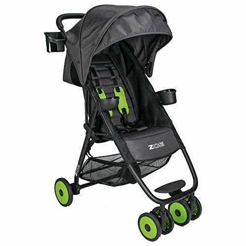 Learn More About ZOE XL1 DESIGNER Xtra Lightweight Stroller (Black Wheels, Noah Grey/Lime Green)