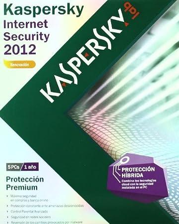 Kaspersky Internet Security 2012 5 licencias - renovación - 1 año