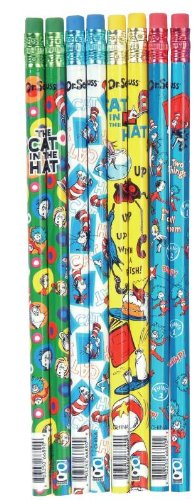 Raymond Geddes Dr. Seuss, Cat in the Hat, Pencils, 144 per Display , Assorted (66890)
