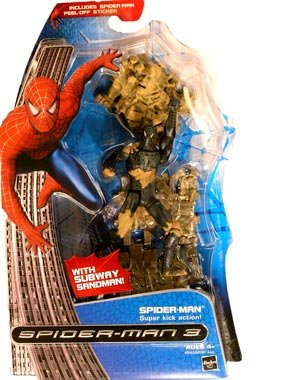 Buy Low Price Hasbro Spider-Man 3: The Movie Spider-Man (With Subway Sandman) Action Figure (B003XWEL5W)