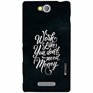 Sony Xperia C Back Cover - Worl Love Designer Cases