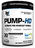 BPI Pump-HD Ultimate Pre-Workout Formula, Blue Ice Lemonade, 11.64-Ounce