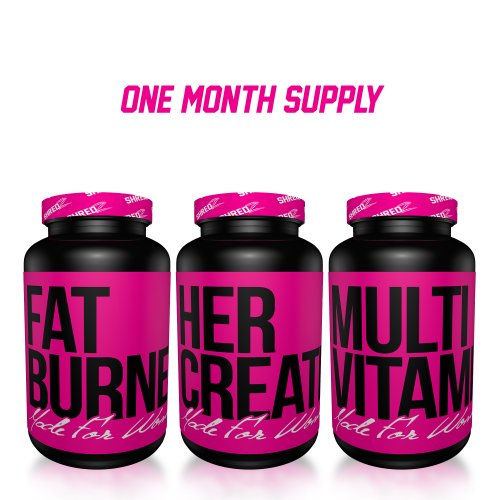 Alpha Female Stack by SHREDZ, 1 Month Supply, Supplement combo for Women