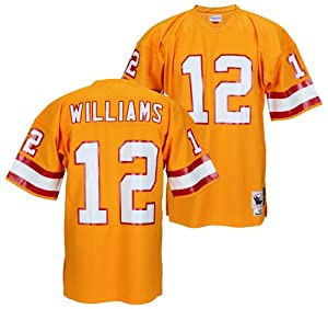 Tampa Bay Buccaneers DOUG WILLIAMS Mens NFL Throwback Jersey, Orange by Mitchell & Ness