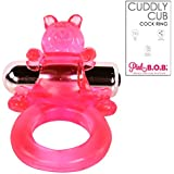 Vibrating Cock Ring for Men - Adult Male Penis Sex Toy - Couples Bedroom Sexual Enhancer - Erection Helper Device Improves Stamina - Clit Stimulator Vibrations - 30 Day Money-Back No-Risk Guarantee