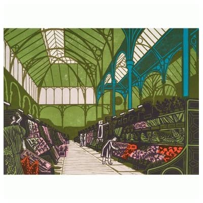 Covent Garden Flower Market by Edward Bawden (Giclée Print)