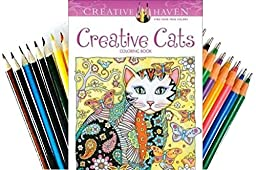 Creative Haven Creative Cats Coloring Book (Adult Coloring) (Coloring Book, Pens and Pencils)