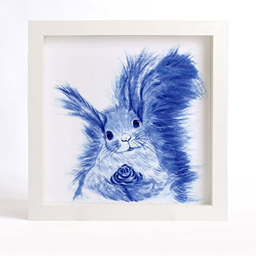 squirrel-art-print-curious-squirrel-painting-blue-squirrel-illustration-blue-and-white-art-print-asi