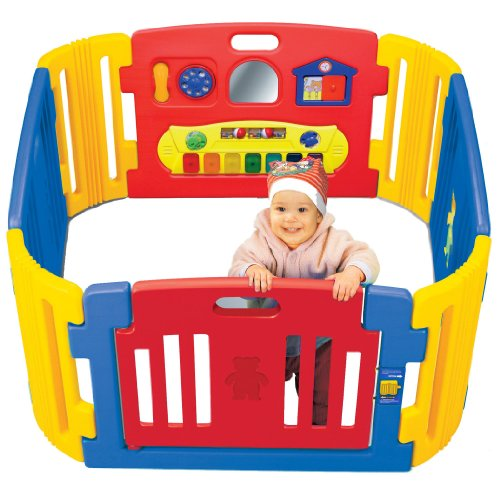 Little Playzone Playpen w  Electronic Lights and Sounds Play Yard, 8 piece