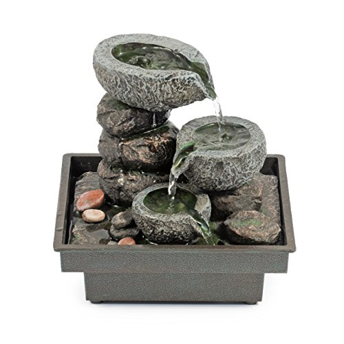 Pajoma 18430 Zimmerbrunnen 'Floating Stones', aus Polyresin,...