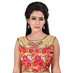 Araja Fashion Multi Color Hand Work with Mirror Work and Embroidery Readymade Designer Saree Blouse