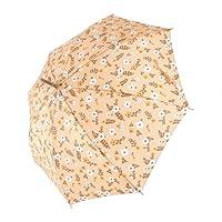 傘 レディース/婦人 リーフ フラワー柄 ジャンプ 雨傘