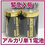 【緊急入荷!】アルカリ乾電池 単1形 12本セット(アルカリ電池 単1 計画停電対策 防災グッズ 災害用品 単一形)