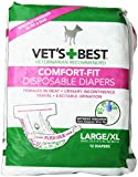Vet's Best 12 Count Comfort Fit Disposable Female Dog Diapers, Large/X-Large