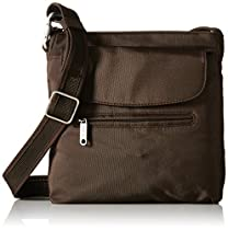 Travelon Anti-Theft Classic Mini Shoulder Bag, Chocolate, One Size