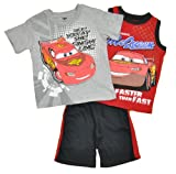 Disney Pixar Cars Infant Boys Lightning McQueen Faster 3Pc Short Set