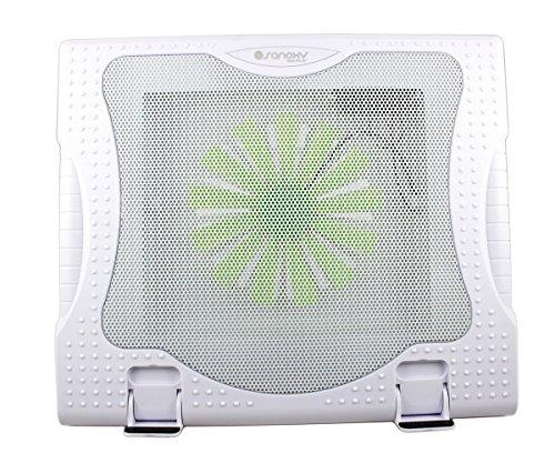 Sanoxy 2 यूएसबी पोर्ट 5 कोण लैपटॉप नोटबुक शीतलक पैड और स्टैंड के साथ 1 मैकबुक प्रो/नोटबुक/लैपटॉप के लिए बड़े प्रशंसक (सफेद)