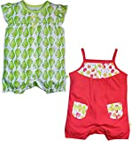 FS Mini Klub Baby Girls' Rompers - Pack of 2 (88EGORO0074 RD_5_9 - 12 Months, Red, 9 - 12 Months)
