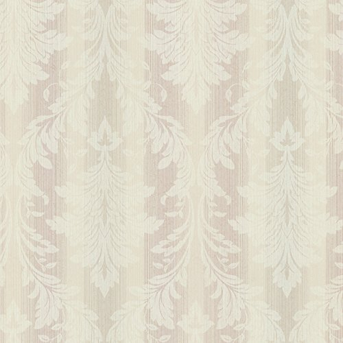 Chesapeake SRC01781 Rangeley New Avalon Stripe Wallpaper, Mauve