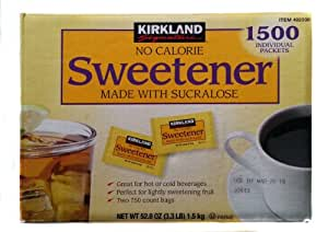 No Calorie Sweetener Made with Sucralose 1500 Individual Packets, 52.8oz
