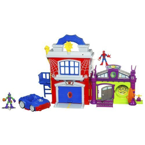 Playskool Super Hero Adventure Crime Fighter Headquarter With Spider-Man Green Goblin by Hasbro günstig als Geschenk kaufen