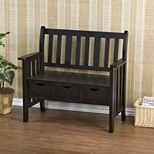 Southern Enterprises BC3049 Country Entryway Bench