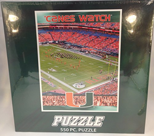 "NCAA University of Miami "" 'CANES WATCH "" 18""x22"" 550 Piece Puzzle"