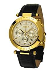 Juwelis Helios JW-0601-GW Chronograph for Him With diamonds