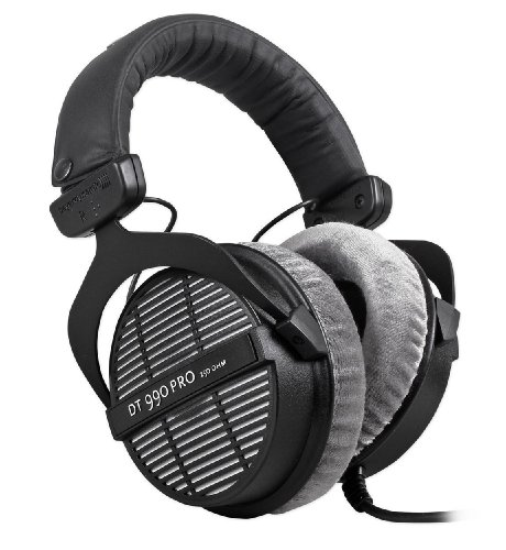 Beyerdynamic Dt-990-Pro-250 Open Back 250 Ohm Studio Reference Monitor Headphones, Extremely Lightweight With Excellent Sound Reproduction