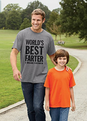 World's Best Farter, I Mean Father Funny Christmas Gift for Dad Men's T-Shirt XX-Large Gray