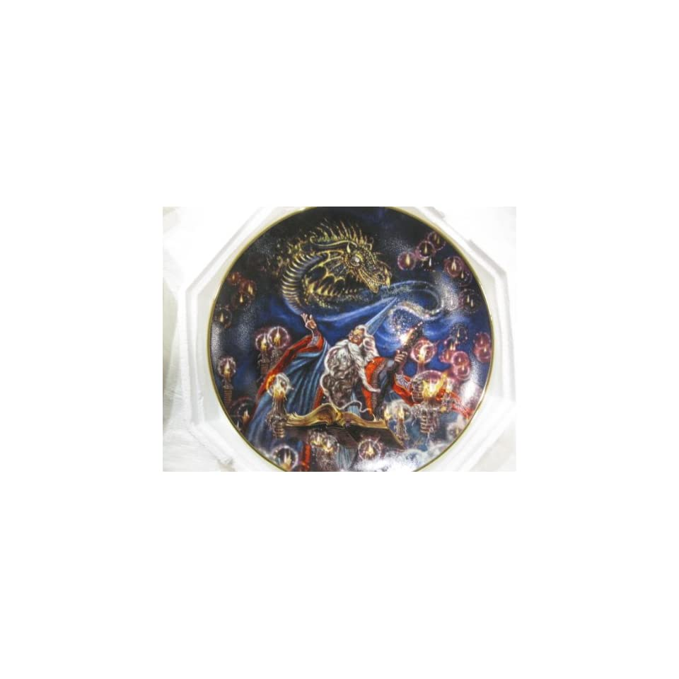 Summoning Of The Dragon Collectible Plate by Myles Pinkney from The Franklin Mint Heirloom Recommendation Royal Dalton Limited Edition Fine Bone China Plate Number RA2355