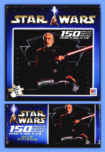Cheap Milton Bradley Star Wars Jigsaw Puzzles 150 Piece Metalix Count Dooku (B001PDPGFK)