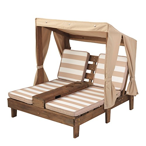 kidkraft double chaise lounge with cup holders outdoor furniture. Black Bedroom Furniture Sets. Home Design Ideas