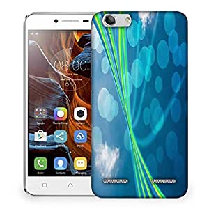 Snoogg blue nature abstract bokeh background Designer Protective Back Case Cover For Lenovo K5 Vibe